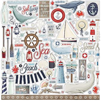 Carta Bella ved havet 12x12 tommer element mærkat