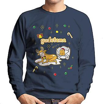 Gudetama Weihnachten Nisetama San Reindeer Männer's Sweatshirt