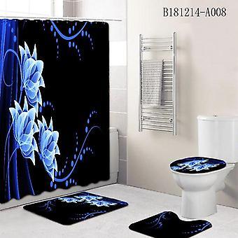 Kreative wasserdichte Marmor Druck Badezimmer Dusche Vorhang Set