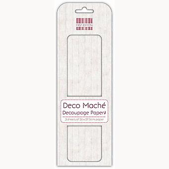 First Edition FSC Deco Mache - White Wood