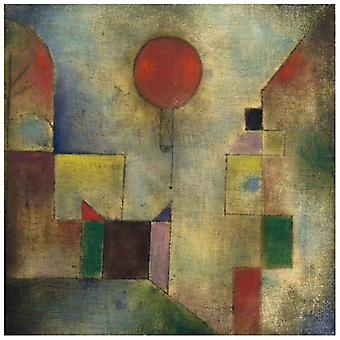 Print on canvas - Red Balloon - Paul Klee - Painting on Canvas, Wall Decoration