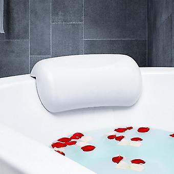 Impermeable antideslizante Spa suave almohada de baño, reposacabezas con ventosas