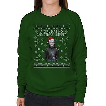 Arya Stark A Girl Has No Christmas Jumper Women's Sweatshirt