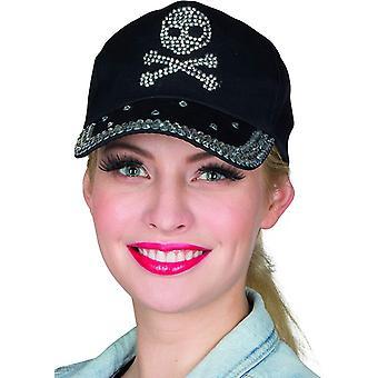 Skull Cap Rijnsteen Stud Cap Halloween