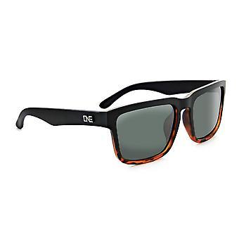 Optic nerve mashup wood grain polarized sunglasses