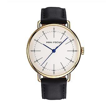 Męski&s biznesowy skórzany zegarek kwarcowy