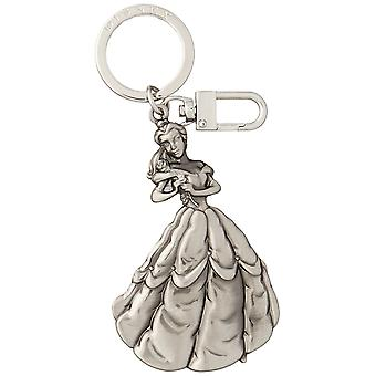 Metal Key Chain - Disney - Beauty and the Beast - Belle Pewter 24397