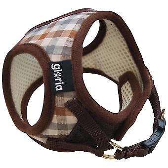 Gloria Padded Fabric Touch Fastening Clip-On Dog Harness