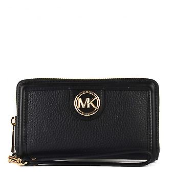 MICHAEL Michael Kors Samira Lg Flat Multifunctional Phone Case Black