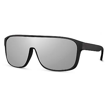 Sunglasses Unisex oval cat. 3 black/silver