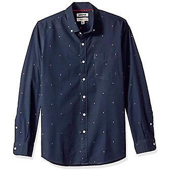 Goodthreads الرجال & apos;ق سليم صالح طويل الأكمام دوبي قميص, -سهم البحرية, X-Large طويل القامة