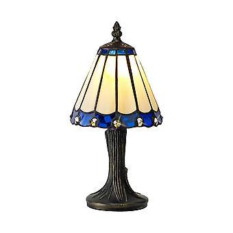 Luminosa Lighting - Lampa stołowa Tiffany, 1 x E14, Niebieski, Bezchmurny Odcień