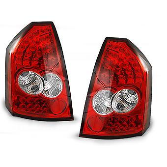TYLNE ŚWIATŁA CHRYSLER 300C 05-08 RED BRIGHT LED