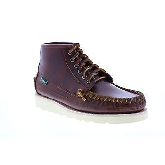 Sebago Seneca Mid Mens Brown Leather Lace Up Casual Dress Boots