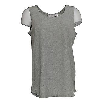Belle by Kim Gravel Women's Cotton Slub Knit TanK Top Gray A375882