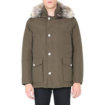 Woolrich Woou0272mrut0001bol Men's Ruskea Puuvilla Down Jacket