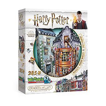 Wrebbit 3D Harry Potter Diagon Alley Collection: Weasleys' Wizard Wheezes Jigsaw Puzzle - 285 Pieces