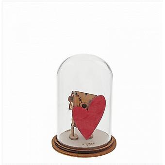 I Love You (Little Wooden Bear) Figurine
