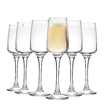 Vajilla de argón 'Tallo' Flautas de champán contemporáneos - Caja de regalo de 6 gafas 230ml (8oz)