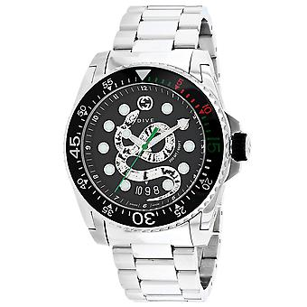 Gucci Men's Dive Black Dial Watch - YA136218