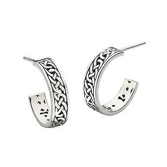 Heritage Sterling Silver Celtic Hoop Boucles d'oreilles 6264HP026