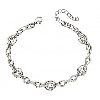 Elements Silver Sterling Silver Organic Double Hoop Bracelet B5233
