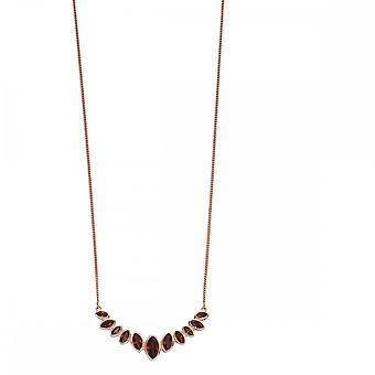 Fiorelli Silver Marquise Mini Collar Necklace N4309Y