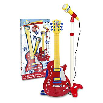 Bontempti Electronic Rock Guitar With Stage Microphone Red