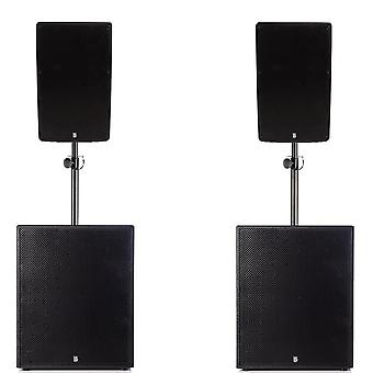 Big gig rig 40 - active 2800w rms 12 tops and 18 subwoofer pa system with bluetooth