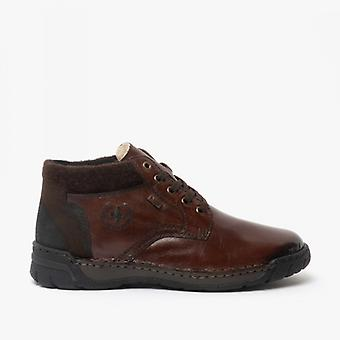 Rieker B0348-25 Mens Lace Ankle Boots Brown
