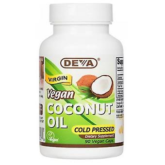 Deva Vegan Vitamins Virgin Coconut Oil, 90 Vcaps