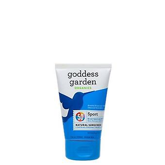 Goddess Garden Natural Sport SPF50 Sunscreen Tube, 6 Oz