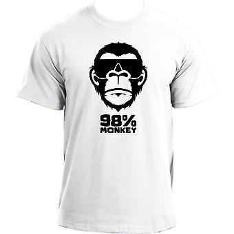 98% Monkey T-Shirt | Funny Monkey Ape Primate Tee | Humour Sarcastic  Animal T Shirt