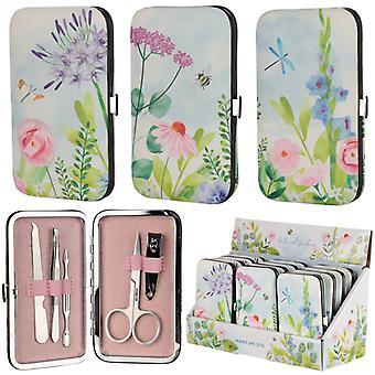 Floral Botanical Design Manicure Set