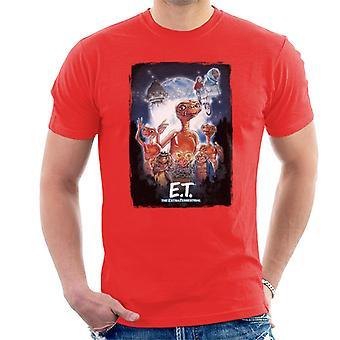 E.t. El cartel cinematográfico extra terrestre Montage Hombres's Camiseta