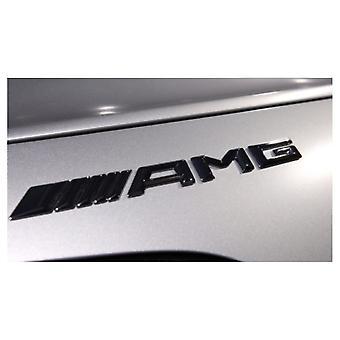 Matte Black New 3D AMG Boot Trunk Emblem Badge Stick On For All Mercedes AMGs