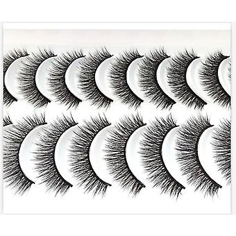 3d Faux Mink Eyelashes Natural Thick Long Dramatic Fake Lashes Makeup Extension