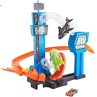 Hot Wheels Racing Car/mega Jump Track Set/funny Game Play Airport Flying Car