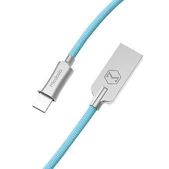 Mcdodo CA-3921 1.2m 2.4A Käännettävä 8 nastaa USB Nylon Kudonta TPE Takki Tietojen synkronointi Latauskaapeli sinkkiseoksella, iPhone XR / iPhone XS MAX /