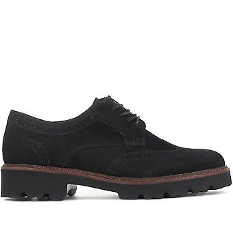 Gabor Womens Sweep Suede Lace-Up Brogues