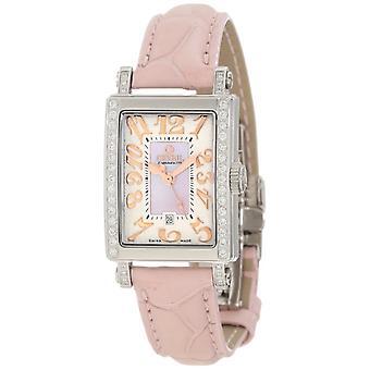 Gevril Women's 8248RE Super Mini Quartz Parelmoer Diamond Horloge