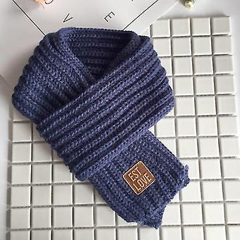 Kids Winter Pom Pom Neck Warmer Scarves Knitting Wool