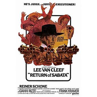Paluu Sabata elokuvan juliste tulosta (27 x 40)