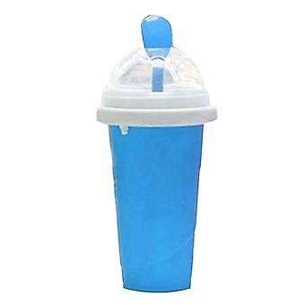Milkshake Bottles Quick Cooling Cup Reusable Smoothie Cup Blue