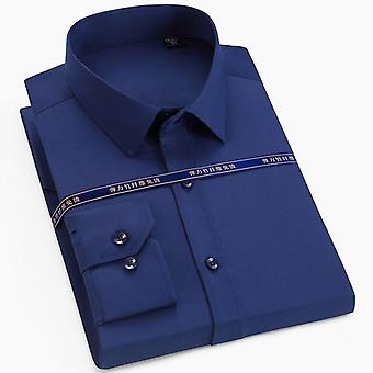 الرجال اللباس أزياء الذكور طويل الأكمام الأعمال قميص رسمي