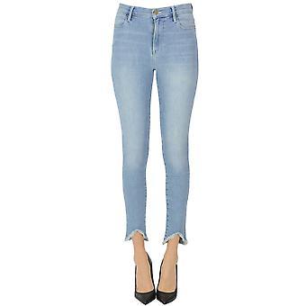 Frame Ezgl418004 Women's Light Blue Cotton Jeans