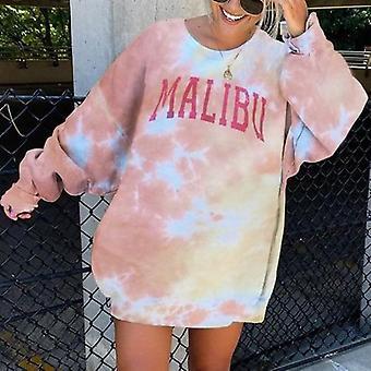 Tie-dye Printed Loose Long Sleeve Sweatshirts
