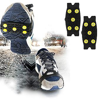Hot Stud Snow Ice Climbing Anti Slip Spikes Grips Crampon Cleats, 5-stud Shoes