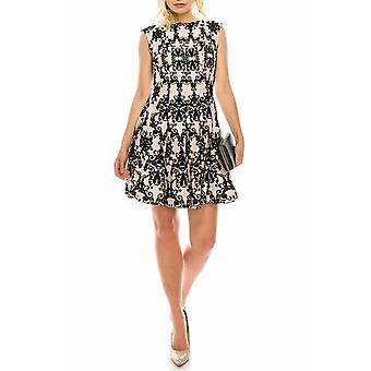 Textured Velvet Printed Dress