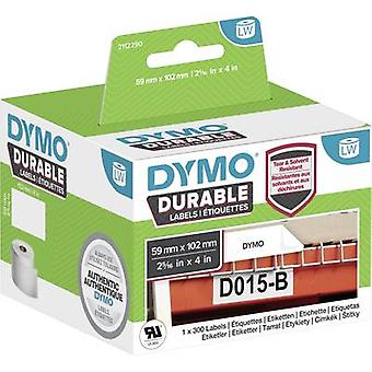 DYMO 2112290 Label roll 102 x 59 mm PE film White 300 pc(s) Permanent All-purpose labels, Address labels